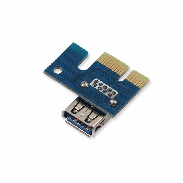 6pcs 006C USB 3.0 PCI-E Express 1X 4x 8x 16x Extender Riser Adapter Card SATA 15pin Male to 6pin Power Cable