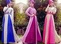 Mujeres de la manera Maxi Musulmán de Manga Larga Vestido Caftán Islámico Jibab Abaya Árabe Ropa 3 unids Caps + Vestido + Correas