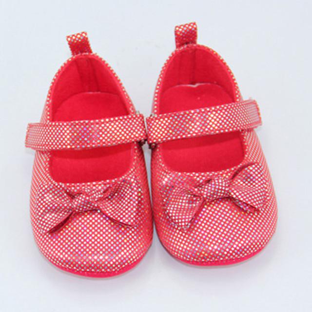 Venta caliente 0-18 Meses de Bebé del Niño Antideslizantes Zapatos Lindos Del Bowknot Soft Sole Zapatos Del Pesebre de la Cinta A Cuadros Bebés primeros Caminante