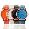 По всему миру Магазин Элегантный Простой Разработанный Женщины Мужчины Пара Круглый Циферблат Кварцевые Наручные Часы relogio