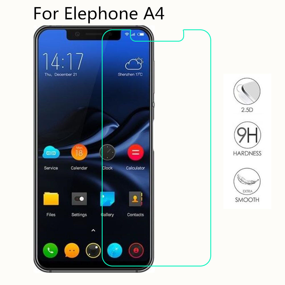 For Elephone A4 Tempered Steel Film Front Glass Protective Tempered Glass For Elephone A4 Screen Protector Mobile Phone