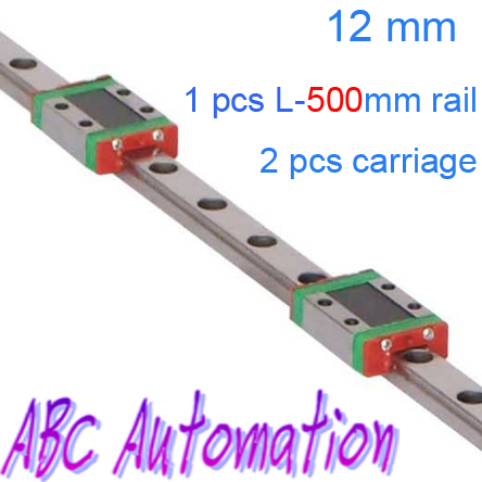 Free shipping Miniature Linear Guide for 1pcs MR12 L-500mm linear rail way + 2pcs MGN12C standard carriage for CNC X Y Z Axis истори одной девушки