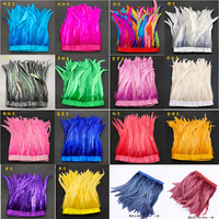Rooster Tails 25 30cm Feathers Trimming/Ribbon For Crafts Dress Skirt Carnival Costumes Plumes DIY wedding decoration