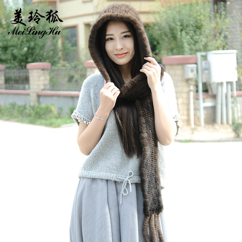Women Genuine Mink Fur Hats Caps Female Scarf Cap Trendy Hat for Russian Women Real Mink Fur Hat Thick Winter For Women Cap