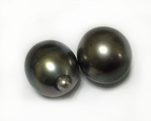 12-13mm Grade AA Raindrop Dark Gray Baroque Tahitian Pearl for Pendent 12-13mm Grade AA Raindrop Dark Gray Baroque Tahitian Pearl for Pendent