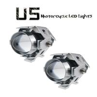 2PCS 125W Chrome 3000LM 12V 80V U5 LED Laser Car Motorcycle Bike Spot Driving Fog Light Lamp Spot Lamp Headlights Bulb