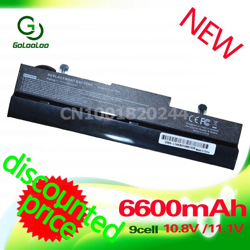 Golooloo 6600mAh Laptop Battery for Asus Eee PC 1001PX 1001PQ 1001HA 1005P 1005 1005HA AL31-1005 AL32-1005 ML32-1005 PL32-1005 все цены
