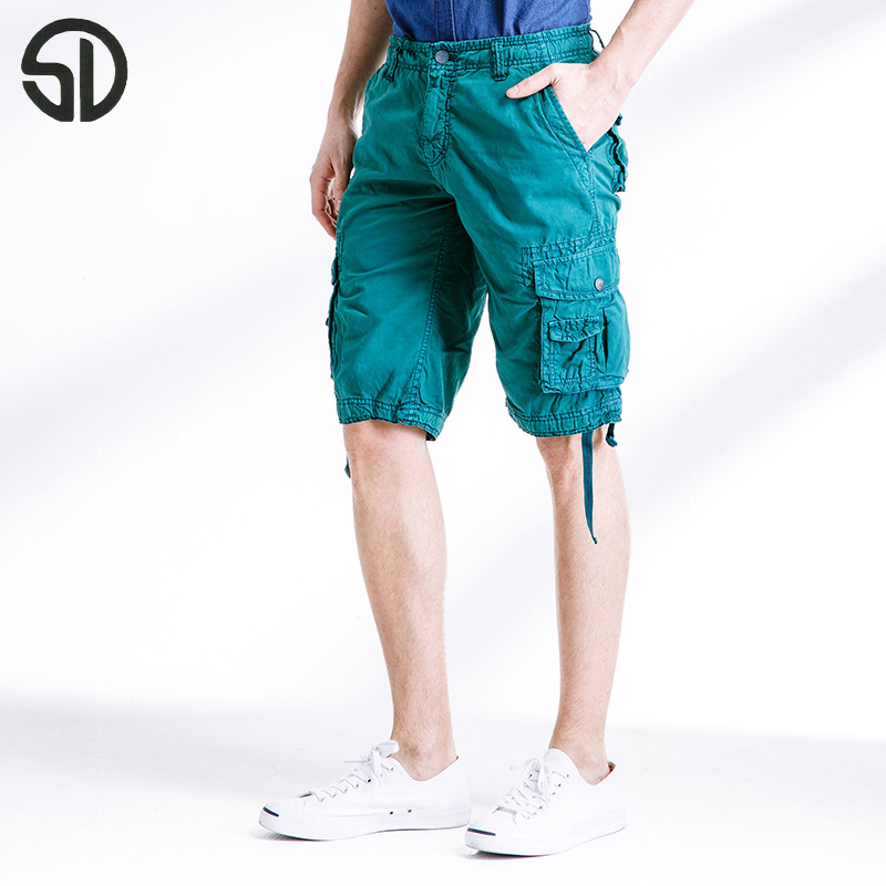Woodvoice 2017 Summer Fashion Causal Straight Pants Males Cargo Trousers Solid Colors Short Pants Twelve Colors available