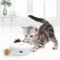 Pet Toy Cat Catching Mouse Game Disc Cats Toys Funny Disk Electric Smart Turntable