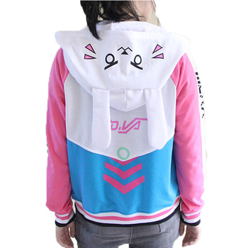 Anime Clothes Game DVa Hoodie Cosplay Costume D.Va Adult Baseball Coat D.Va Jacket feminino Cosplay thin Hoodies for Men Women 2