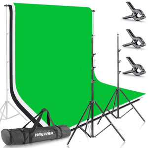 Neewer Green Screen Photo Studio 8.5 X 10 feet Backdrop Stand Background Support System with 1.8 X 2.8 meters Fabric Backdrop