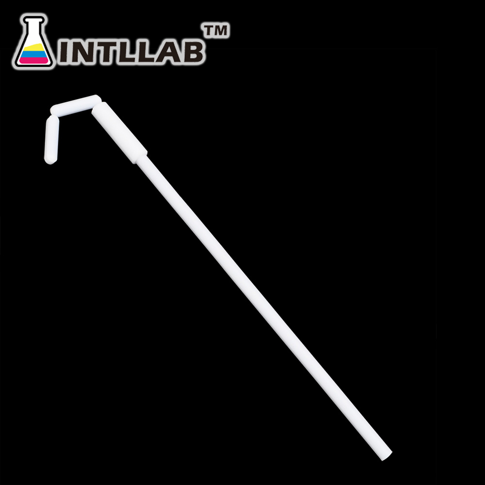 INTLLAB 25cm Magnetic Stir Bar Retriever, 10 Inch Length, Teflon PTFE, Anti-Corrosive, Chemical Resistant