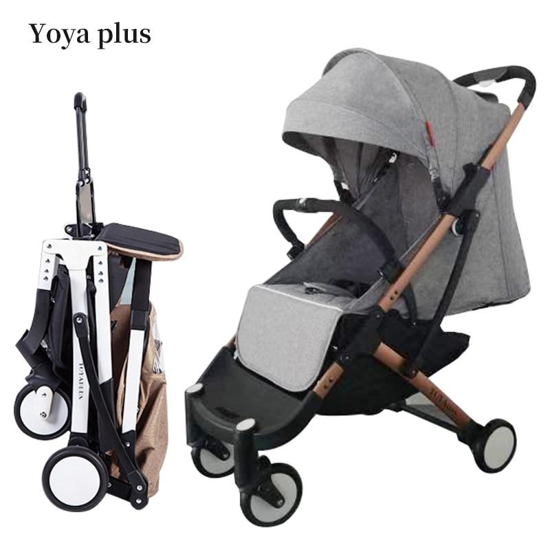 8 cadeaux! Yoya plus 5.8 kg lumière portable pliant bb poussette peut s'asseoir peut mentir Pliage Bébé Parapluie bébé poussette livraison cadeaux
