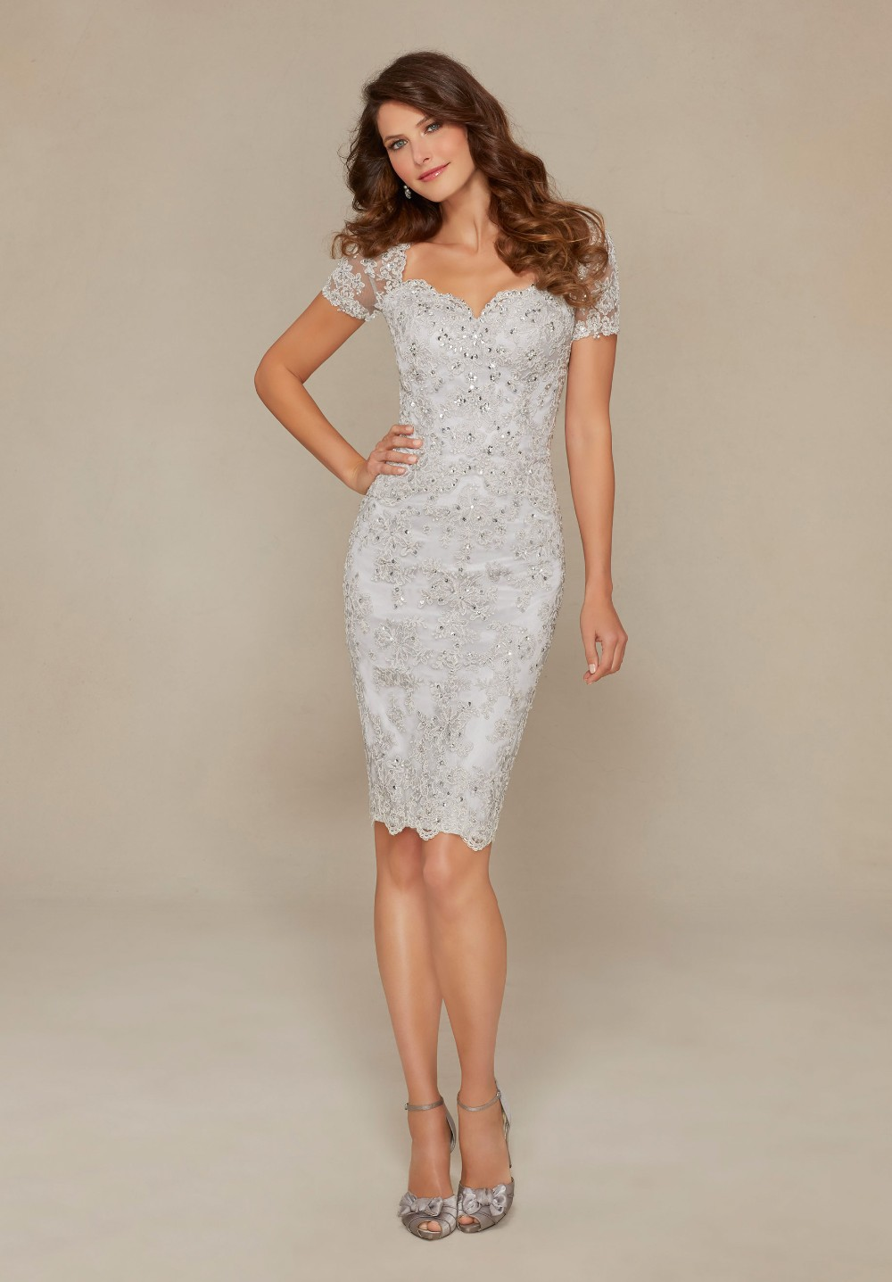 c7b3caffed Silver Knee Length Mother Of The Bride Dresses - Gomes Weine AG