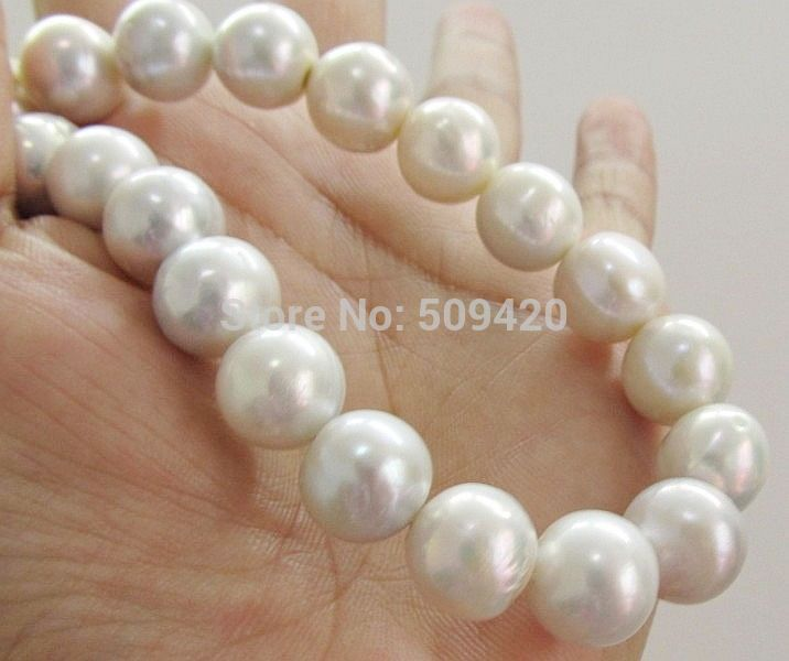 FREE SHIPPING>>@> HOT HUGE AAA 10-11MM ROUND SOUTH SEA GENUINE WHITE PEARL NECKLACE 18 beautiful genuine 18 aaa 10 11mm perfect round south sea white pearl necklace yellow clasp