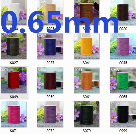 YL065  0.65mm 78m Long Round Polyester Fibre Waxed Thread For Leather Sewing