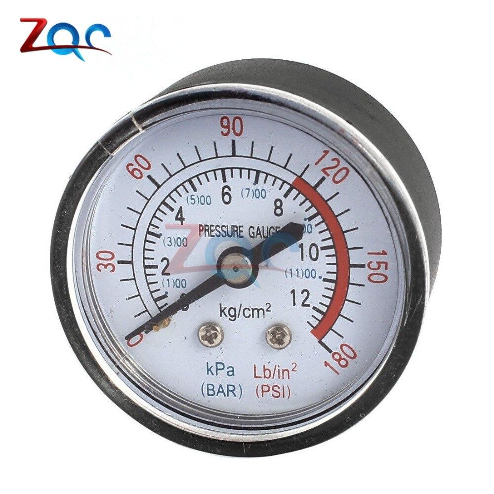 13mm 1/4 Bsp Gewinde 0-180 Psi 0-12 Bar Air Manometer Für Luft Kompressor Eisen Neue Ankunft Durchmesser über 52mm VerrüCkter Preis