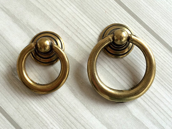 Antique Bronze Dresser Pulls Drawer Pull Handles Drop Ring Pulls / Shabby  Chic Vintage Style Cabinet Knobs Rings Hardware - Antique Bronze Dresser Pulls Drawer Pull Handles Drop Ring Pulls
