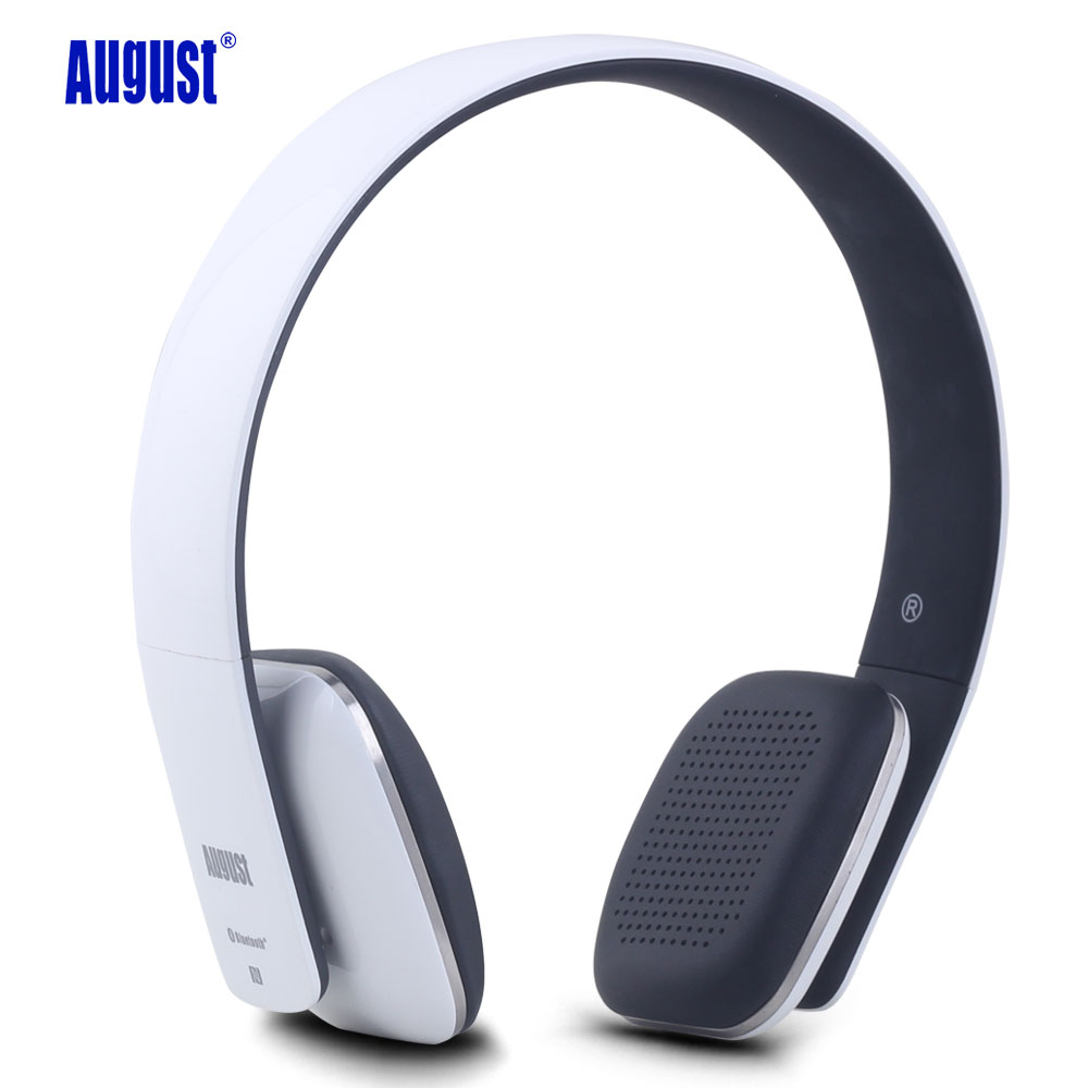 August EP636 Wireless Bluetooth Headphones with Microphone Stereo NFC Bluetooth 4 1 on ear Headset for