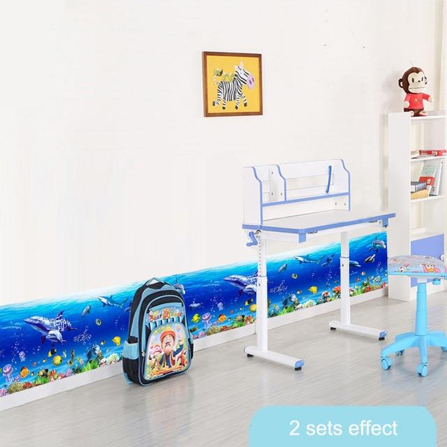 Ocean Kitchen Decor: Cheap Summer Ocean Underwater Border Wallpaper Kids Home