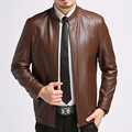 Mens Leather Overcoat 2017 Men's Fashion Temperament Leather Biker Jacket Leisure Plus Size Winter Leather Jacket Men