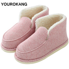 Women Shoes 2019 Winter Warm Female Ankle Boots Unisex Indoor Soft Furry Plush Floor Ladies Home Shoes Couple Cotton Snow Boots