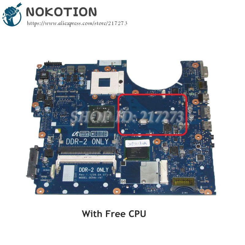 NOKOTION For Samsung R522 R520 Laptop Motherboard GM45 DDR2 Free CPU BA41-01039A BA92-05528A BA92-05528B BA92-05711A