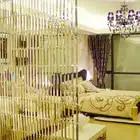 Ligne chaîne cristal verre bande rideau fenêtre porte diviseur pure rideau cantonnière luxe salon chambre mariage décor à la maison - 3