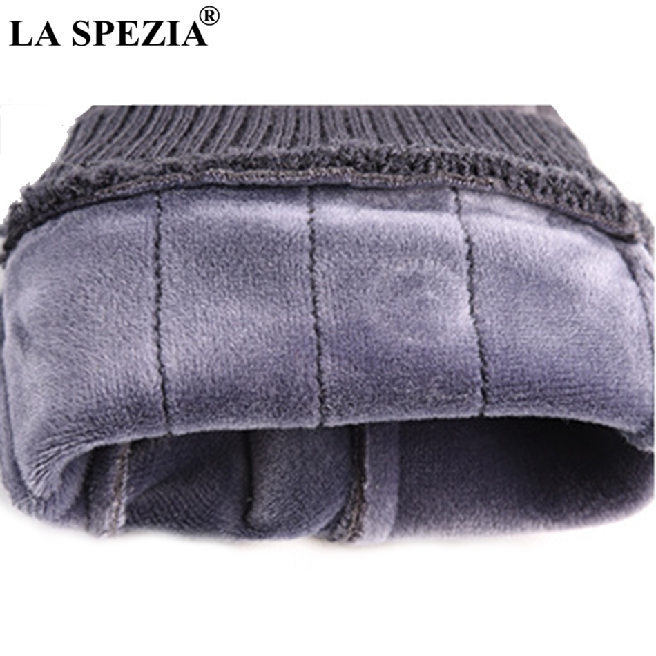 LA SPEZIA Winter Gloves Men Thermal Khaki Suede Gloves With Buckle Touch Screen Male Coral Velvet Thick Windproof Mittens Warm in Men 39 s Gloves from Apparel Accessories