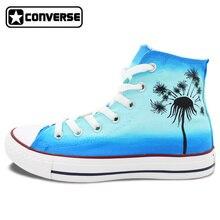 Designer Dandelion Style Original Converse Sneakers Hand Painted Canvas Shoes Brand Converse All Star Men Women Athletic Shoe