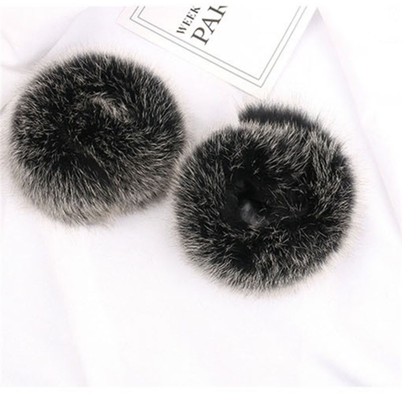 2019 Winter Fashion Ladies Fox Fur Cuffs Multicolor Fur Cuffs Ladies Warm Arm Sleeve