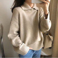 2018 Autumn And Winter Installed Korean Version Of The New Large Loose Knit Sweater Thickened Lazy
