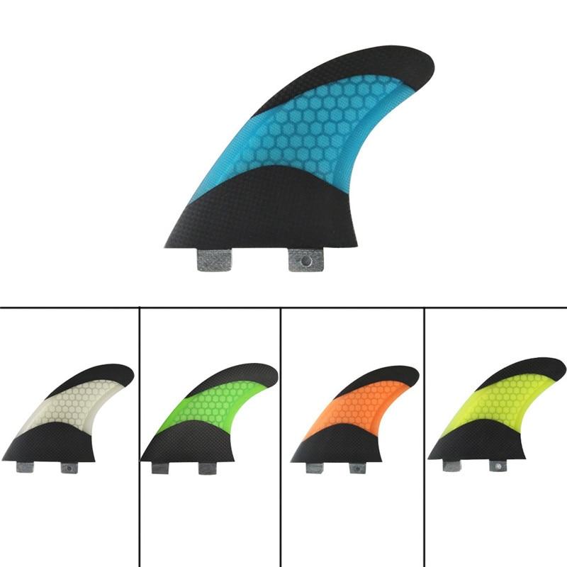 Surflaua Fin Surfing FCS G7 Fins Quilhas 5 Värvid ja Must Klaasplast - Veesport - Foto 6