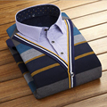 2016 New Warm Shirt Men Lapel Casual Thickened Shirt Men Winter Large Size Men's Clothing