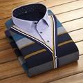 2016 Nueva Camisa de Los Hombres de la Solapa Informal Engrosada Cálido Camisa de Los Hombres de Invierno de Gran Tamaño ropa de Hombre