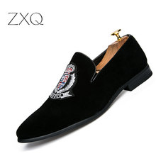 Luxury Brand Men Loafers Shoes Top Quality Back Shoes Fashion Embroidery Men Velvet Loafers Casual Driving