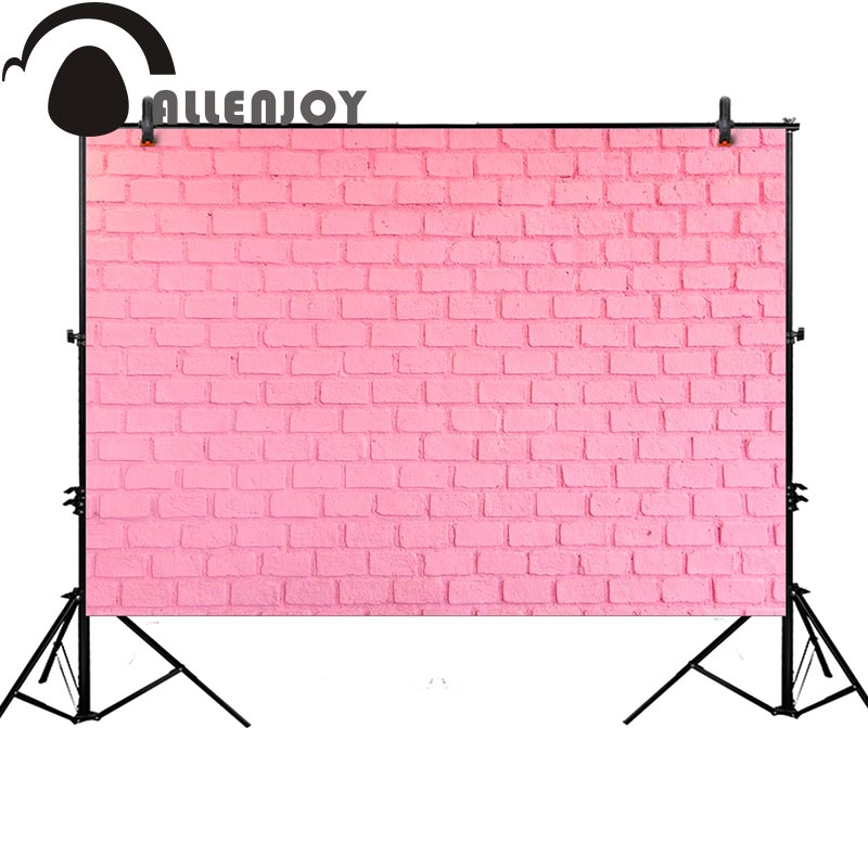 Allenjoy pink brick wall background for photo studio girl sweet birthday backdrop photocall newborn photobooth professional allenjoy photography backdrop library books student child newborn photo studio photocall background original design