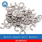 100Pcs DIN6799 GB896 M2 M2.5 M3 M4 M5 M6 M8 304 Stainless Steel Circlip Sack Retainer E E-type Buckle-shaped Split Washers