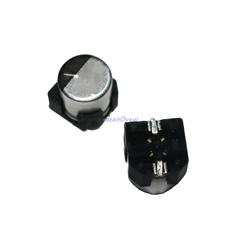 10pcs/lot Electrolytic <font><b>capacitor</b></font> 35V330UF 10*10mm SMD aluminum electrolytic <font><b>capacitor</b></font> <font><b>330uf</b></font> <font><b>35v</b></font> In Stock image