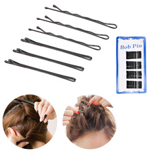 steel wire Wavy Hair Clips Alloy Black Bobby Pins Invisible Curly Grips Dropshipping