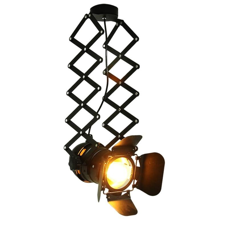 ФОТО Kung Retro LED ceiling Light 8W E27 Loft vintage Industrial Rail Lights Clothing Shoe Shop Indoor Light Warm White Black Housing