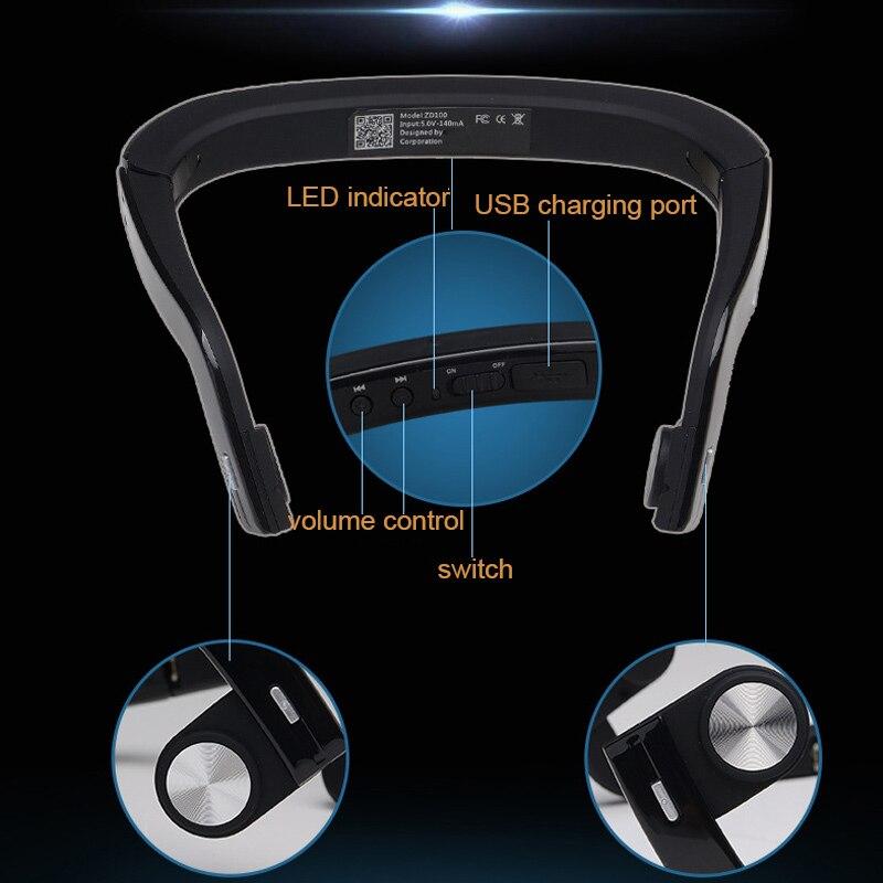 Bluetooth casque sans fil casque écouteur Conduction osseuse pour Sport en plein air WIF66