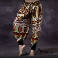 Colored American Tribal Style Belly Dancer Tribal Trousers Women Bloomers Chic Gypsy Dance ATS Harem Pants