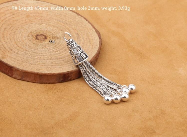 925 Серебряная кисточка DIY браслет кисточка чистое серебро ювелирные изделия кисточка