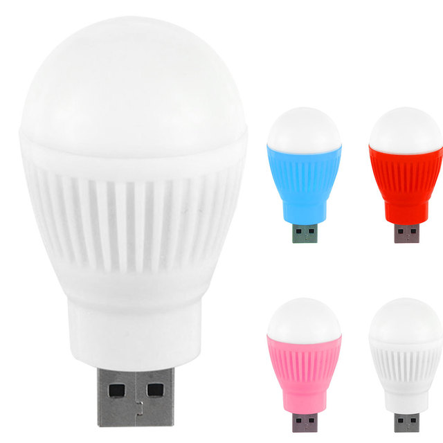 Useful Multipurpose Bulb Shaped Plastic USB Mini Lamp
