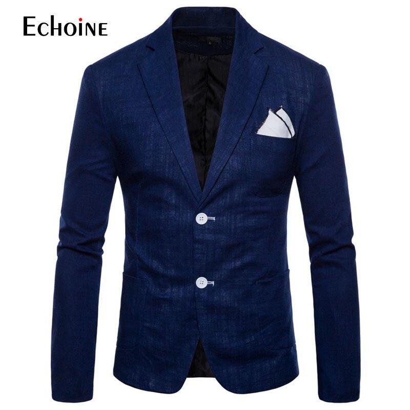 Image 2 - Fashion Cotton linen summer men comfort blazer Mens 2019 New Slim Fit Jacket Suits Blazers Men Quality Casual suit plus size 4XL-in Blazers from Men's Clothing