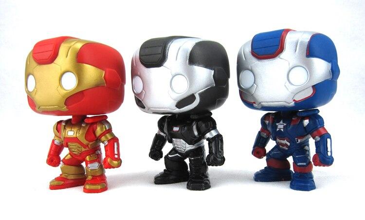 3pcs Funko Pop 23 24 25 Avenger Super Hero Iron Man 3 War