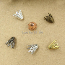 цена на 9x10mm Multi-color Plated Brass Metal Blank Filigree Flower Links Spacer Beads Connectors Jewelry Findings Connectors Charms