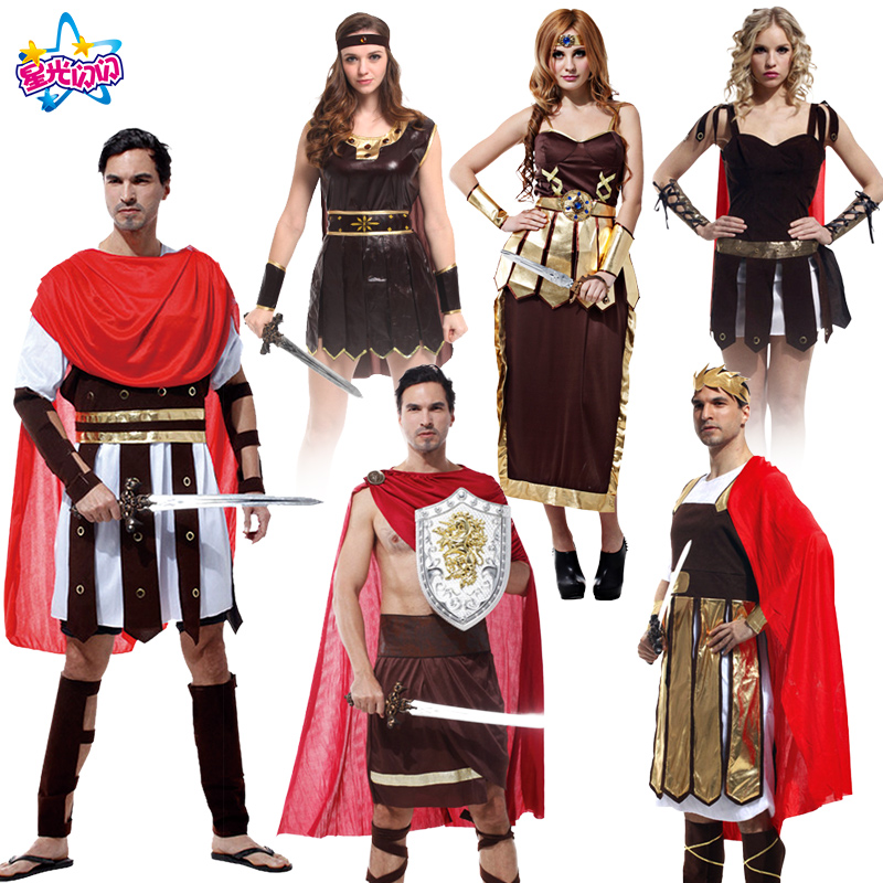 Free shipping Men's Halloween King Costumes The prince of Rome Costumes Warrior Cosplay Games uniforms Clothing for men and wome