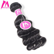 Maxglam Malaysian Virgin Hair Weave Bundles Loose Deep Natural Color Human Hair Bundles Extension Free Shipping(China)